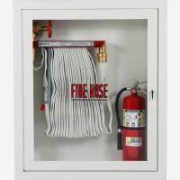 "1.5"" Fire Hose Rack and Extinguisher Cabinet - Potter Roemer"