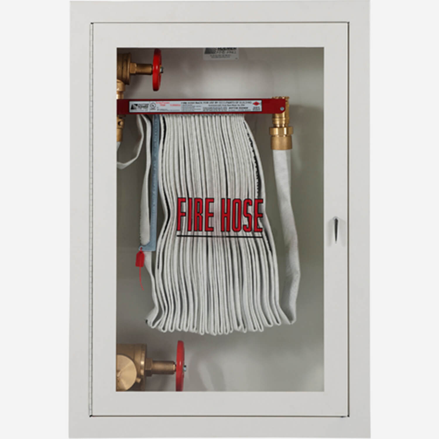 """Fire Rated 1.5"""" Fire Hose Rack and 2.5"""" Fire Dept. Valve"""