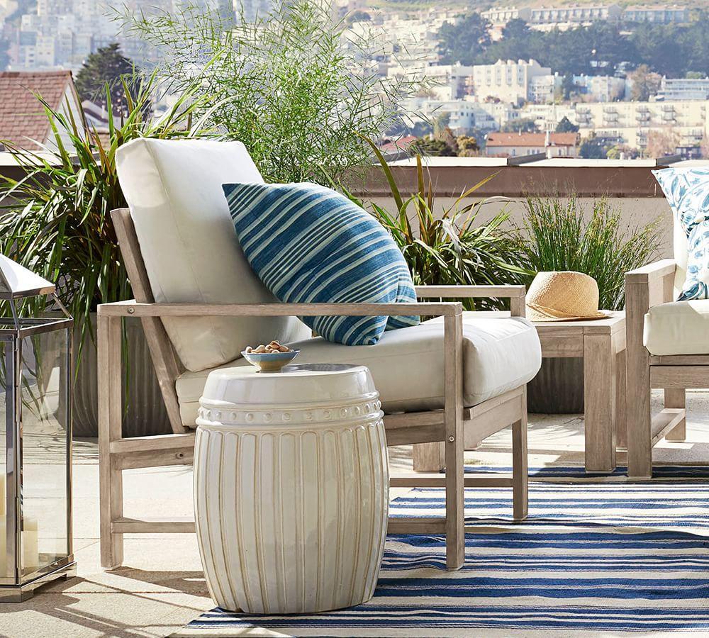 melilla striped indoor outdoor cushions