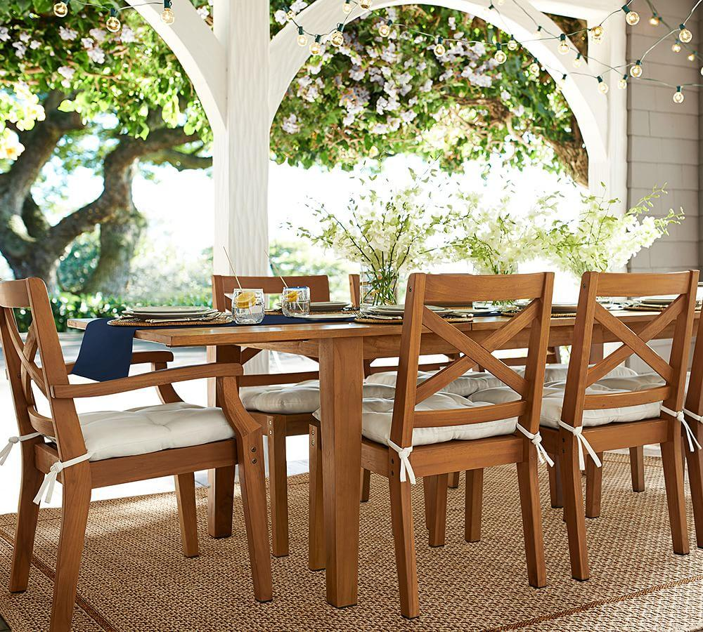 tufted sunbrella outdoor dining