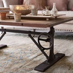 Industrial Kitchen Table Modern Cabinet Pittsburgh Crank Coffee | Pottery Barn