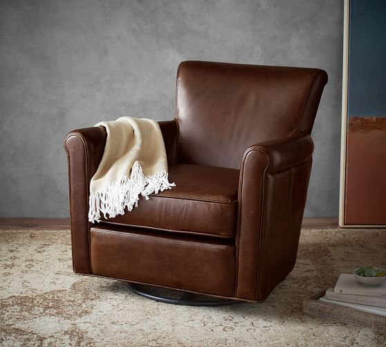 x rocker chairs desk chair narrow irving leather swivel glider | pottery barn