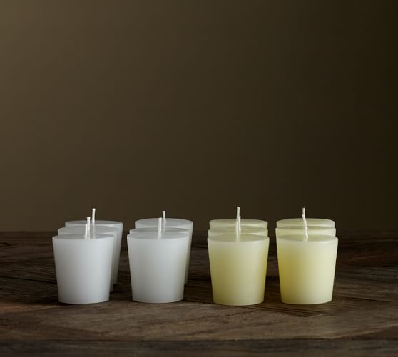 Unscented Votive Candles Set of 12  Pottery Barn