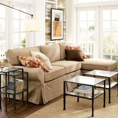Pottery Barn Chaise Sofa Sectional Compact Sofas Sale Pb Basic Slipcovered With