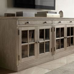 Tv Stand Living Room Wall Units Designs For In India Livingston Small With Glass Doors Pottery Barn