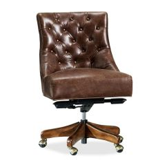 Leather Chair Office Wheel Images Chairs Desk For Your Home Pottery Barn Hayes Tufted Swivel