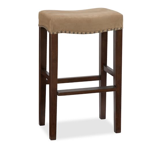 chair stools height french louis bar counter pottery barn stone performance everydaysuede light wheat antique dark brown leather
