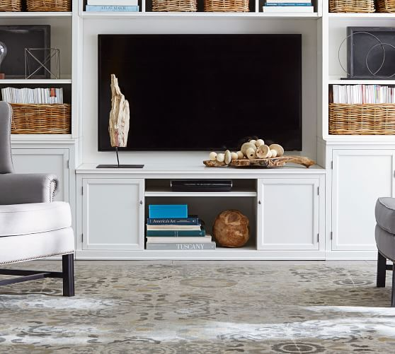 tv stand living room interior design for pictures logan large pottery barn