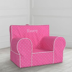 Pink Slipcover Chair Steel Easy With Cloth Bright Pin Dot Anywhere Only Pottery Barn Kids