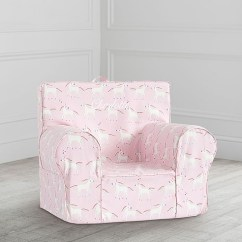 Pink Slipcover Chair Cover Hire Colchester Unicorn Anywhere Only Pottery Barn Kids