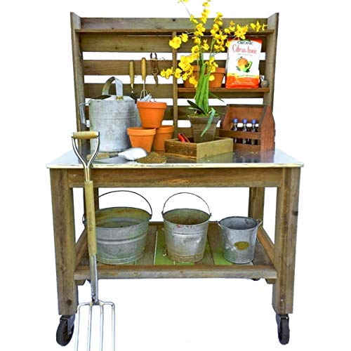 Wooden Potting Planting Garden Table Practical Working Flower Bench Station