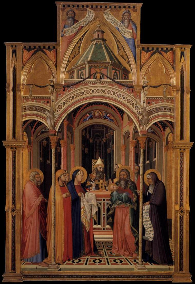 THE CHRISTMAS CANVAS: 'The Presentation at the Temple' by Ambrogio  Lorenzetti (1342)