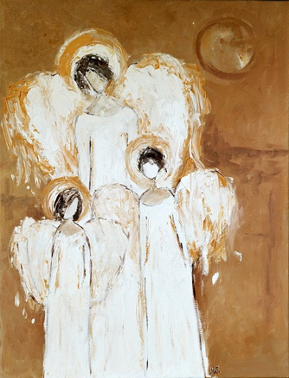 10149709three Angels Painting White Angels Abstract Canvas
