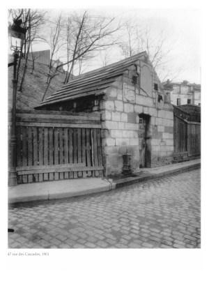 Atget 47 rue des Cascades,1901 オリジナル 100 作業