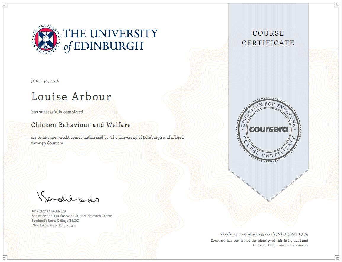 coursera certificate course
