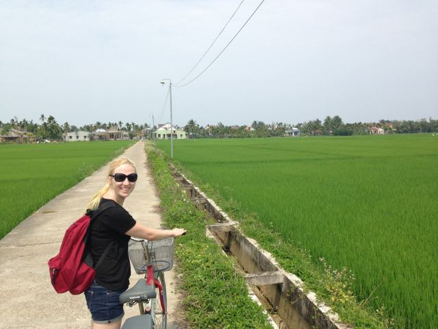 Getting around by bicycle in Hoi An, Vietnam