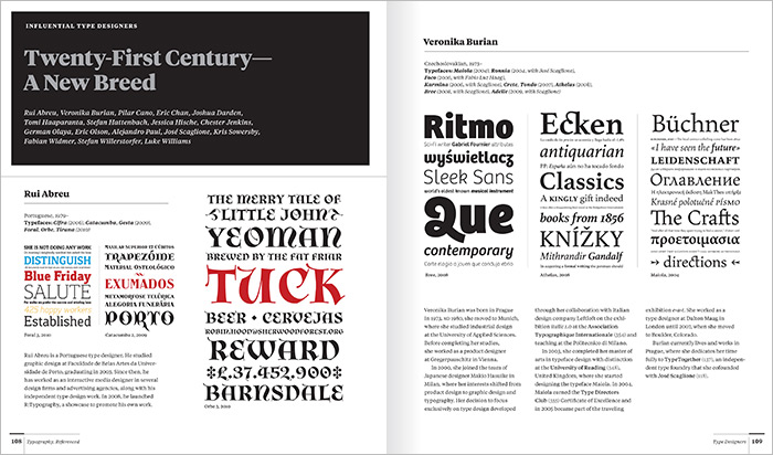 POULIN + MORRIS: Typography Referenced