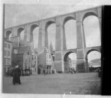 Tirage argentique de la place Cornic, les lances. Collection J.M.P.