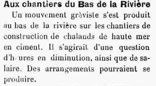 Entrefilet de novembre 1919 du journal Mouez Ar Vro