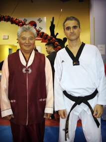 With Grand Master Kim