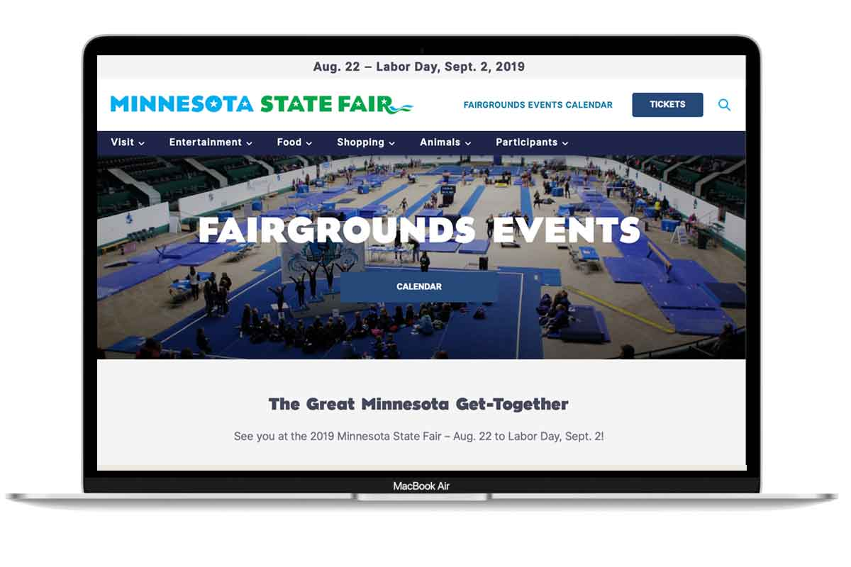 2018 Website design for mnstatefair.org
