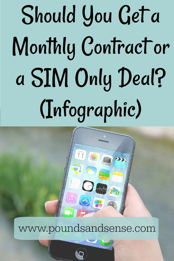 Mobile Phones: Should You Get a Monthly Contract or a SIM Only Deal (Infographic)