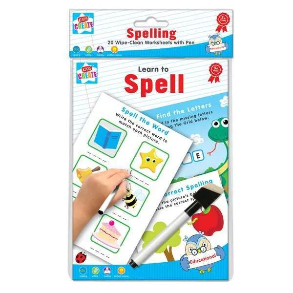 Educational A5 Wipe Clean Spell