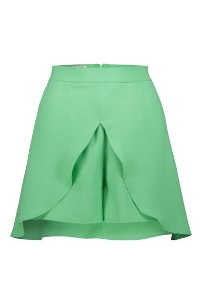 Poupine green miniskirt-shorts