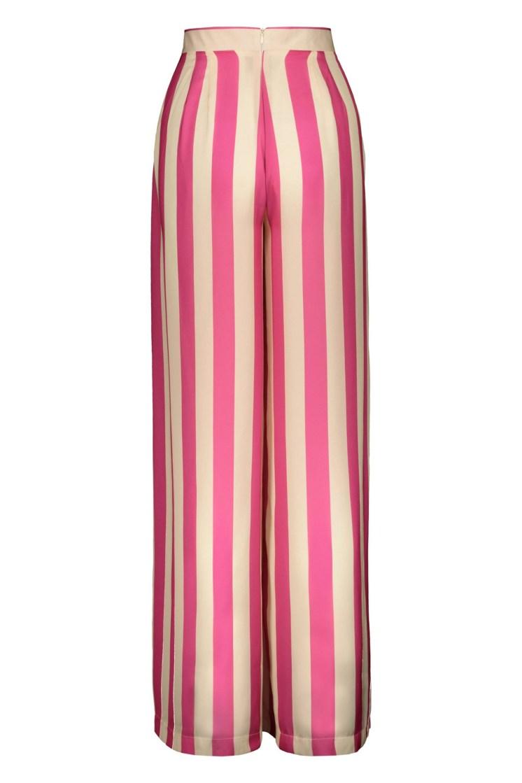Poupine - Pantaloni righe fucsia