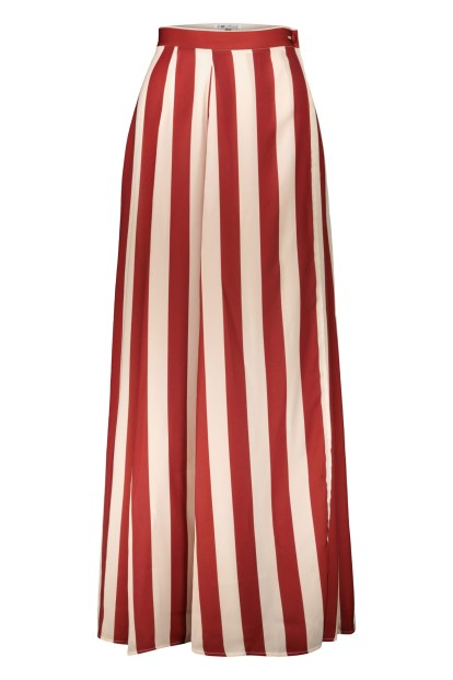 Poupine Wrap bordeaux striped skirt