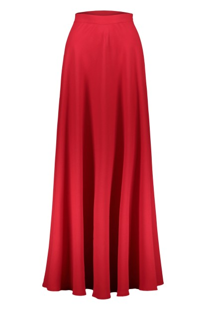 Poupine red flared skirt