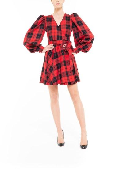 Red and black Mini plaid dress