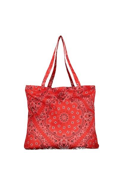 Shopper bandana rossa Poupine