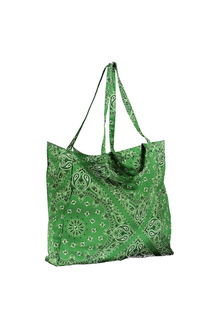 Shopper bandana verde Poupine