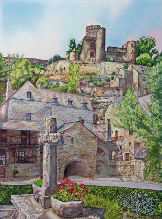 Aquarelle en Gte Gite  Villeneuve dAveyron Aveyron