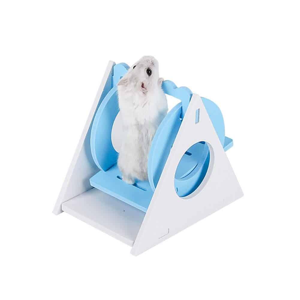 hamster utilisant accesoires exercice decoration pour rongeur hamster dans la cage