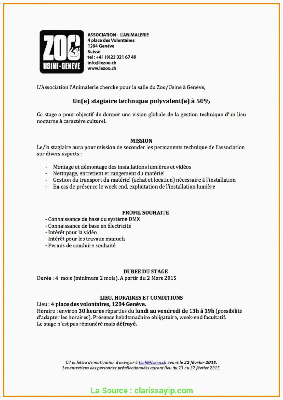 lettre de motivation stage association
