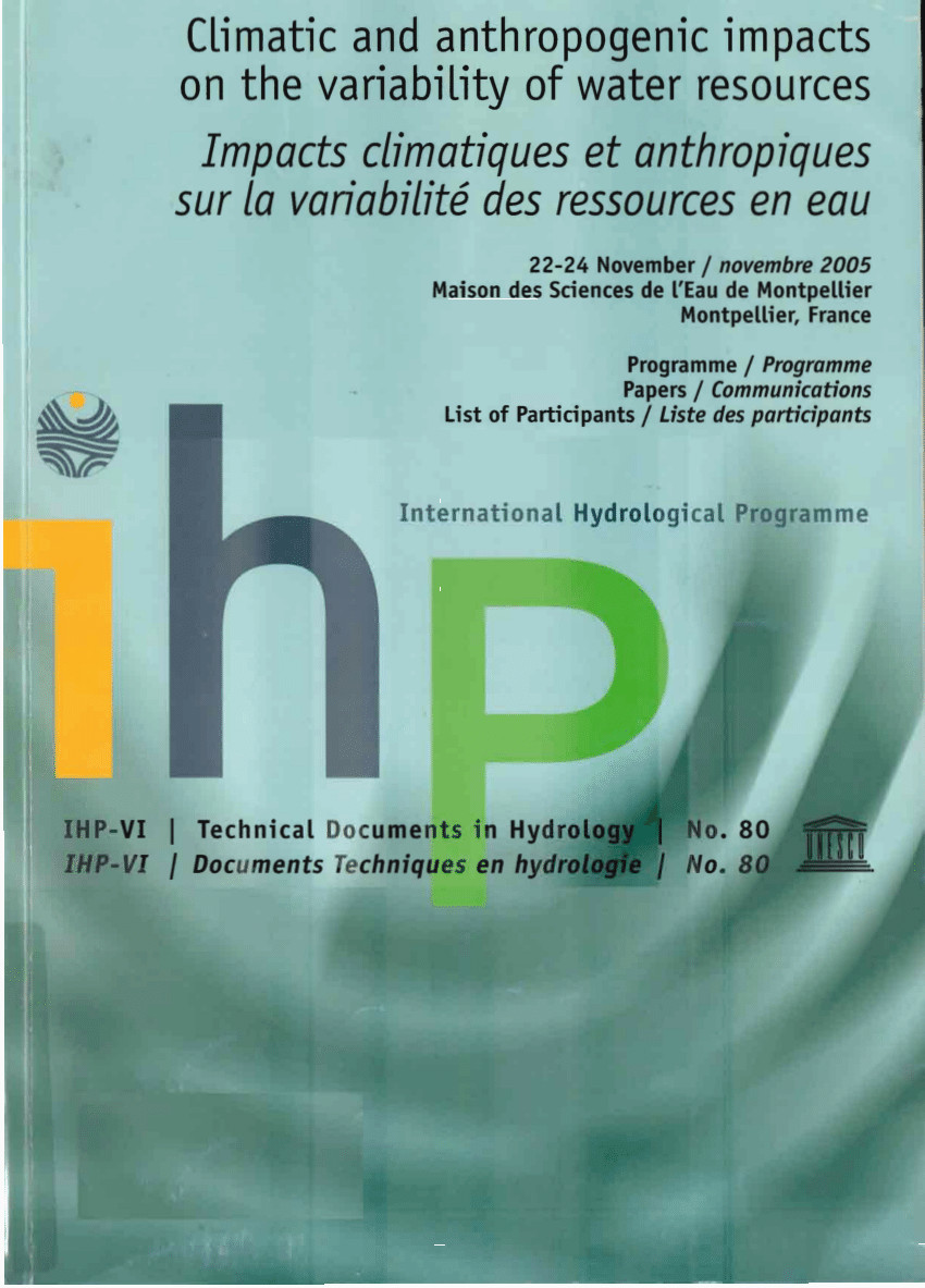 Lettre De Motivation formation À Distance Pdf Climatic and Anthropogenic Impacts On the Variability Of Water