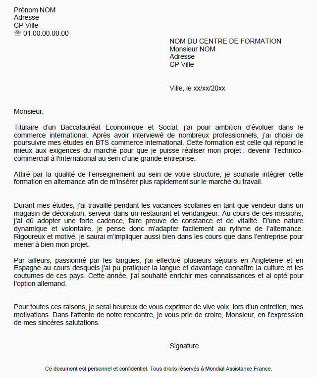 Lettre De Motivation formation Alternance Lettre De Motivation formation Continue Lettre De Motivation Manager