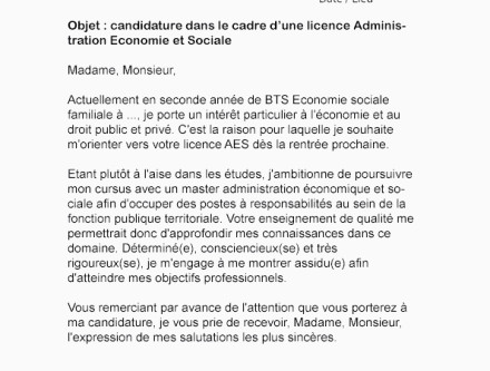 Lettre De Motivation Licence Chimie Buyintuscany