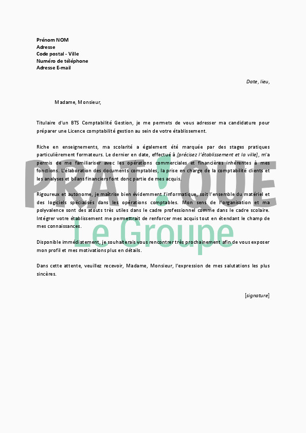 Lettre De Motivation Licence Chimie Lettre De Motivation Licence 3