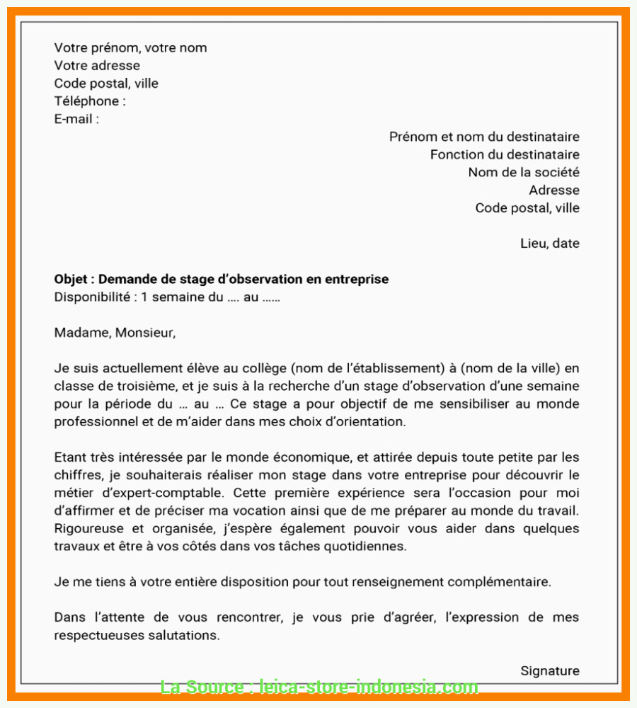 Lettre De Motivation Stage 3 Eme Acceptable Lettre De Motivation Stage 3eme Magasin De Vetement
