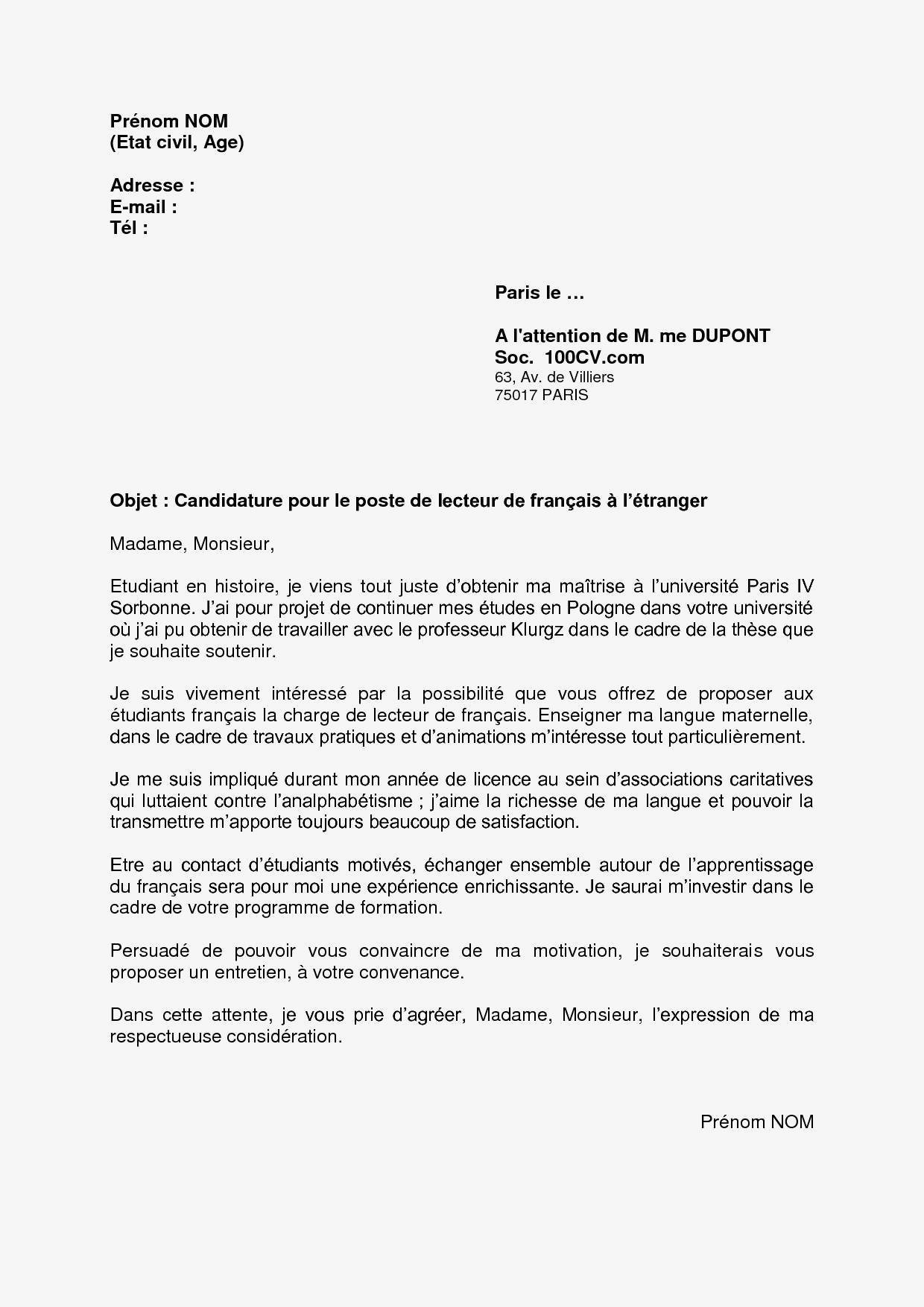 Lettre De Motivation Stage 3eme Commerce Exemple Lettre De Motivation Stage Etranger Nouvelle Exemple Lettre