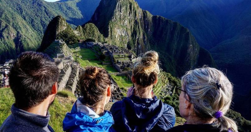 On n'était pas seuls pour profiter du Machu Picchu. 1