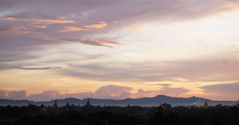 Notre premier lever de soleil à Bagan, nous sommes devenus des gens du matin ! 1