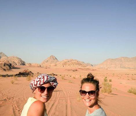 Les Morissettes sur fond de Wadi Rum 😍 #seulesaumonde #jordanie #jordan 1