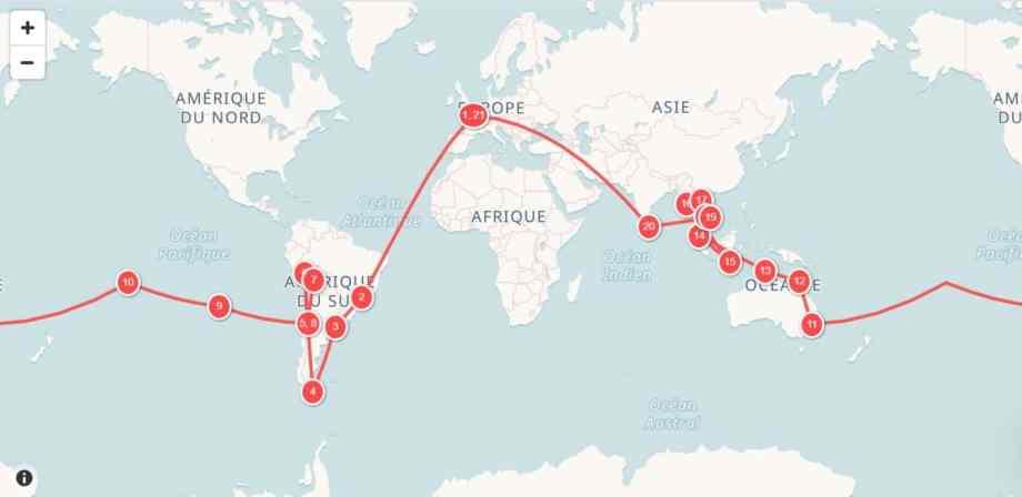 Planifier un itinéraire tour du monde : notre technique 11