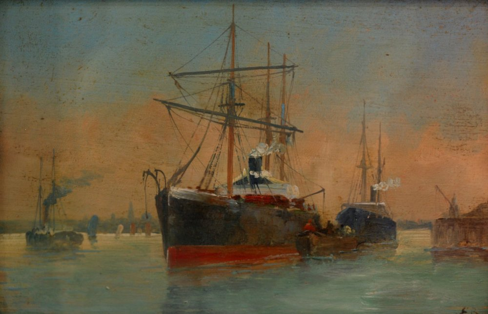 Eugène Boudin - Le bassin du Havre - collection privée
