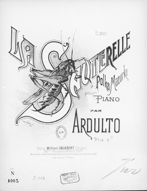 La sauterelle -polka-mazurka pour piano par Ardulto - Gallica/BNF