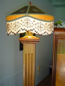 Handmade Wooden Lamp Pouted